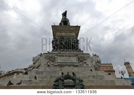 The Monument To Victor Emmanuel Ii In Milan, Italy