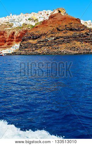 From One  Boat In     Santorini  Rocks The Sky