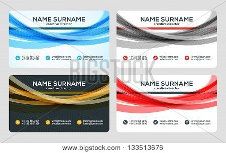 Business Card Vector Template