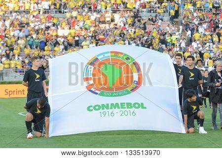 Conmebol Flag During Copa America Centenario