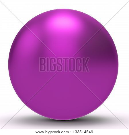 3D Magenta Sphere