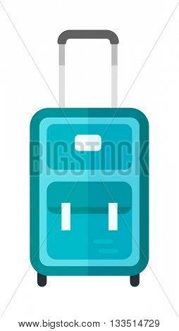 Travel suitcase vector illustration.