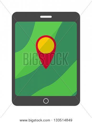 Navigator screen vector illustration.