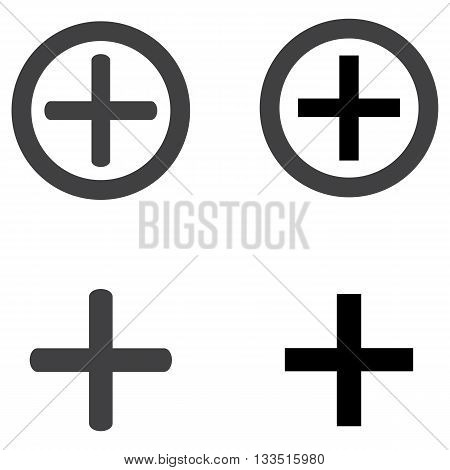 Add plus icon sign symbol digitally generated image button computer graphic remote