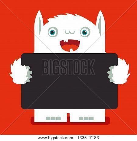 illustrated monster, vector illustration, poster, banner, sign