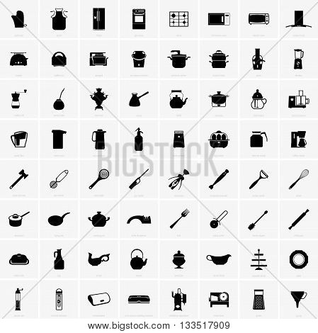 Set of kitchen utensils ( shade pictures )