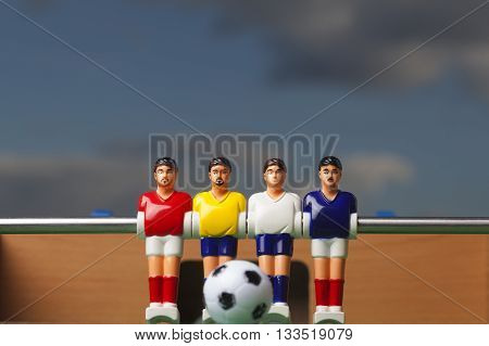 foosball table soccer football players sport toy