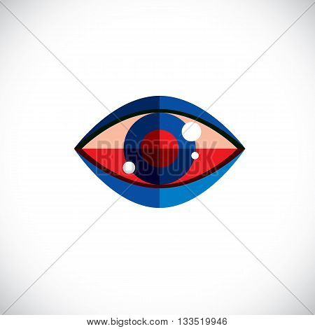 Art modern illustration of human eye part of personality face symbolic graphic element can be used in design.