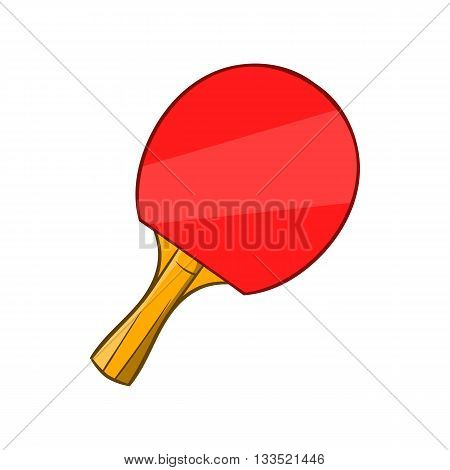 Table tennis racket icon in cartoon style isolated on white background. Sport symbol