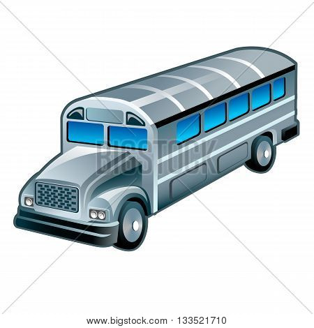Bus On White, Vector, 10Eps.