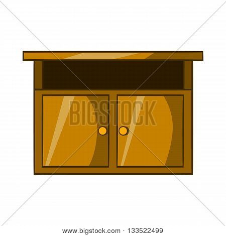 Bedside table icon in cartoon style isolated on white background. Furniture symbol