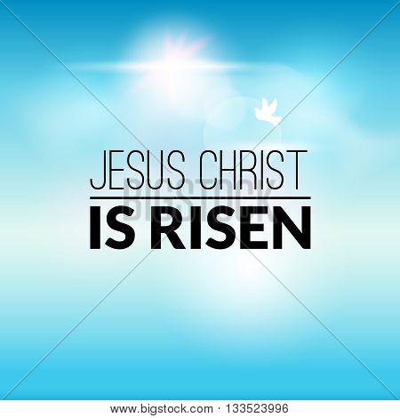 Easter christian celebration Jesus Christ is risen vector background.