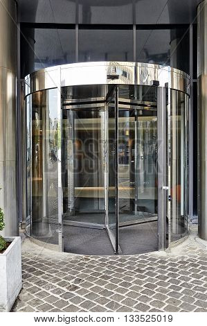 The Main Entrance Door At Hotel Pullman In Brussels