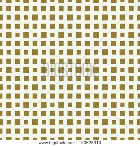 Graphic ornamental tile vector continuous pattern made using checkers and squares.