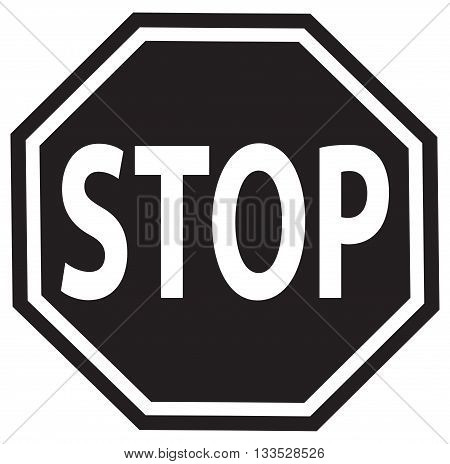 stop sign vector symbol safety sign traffic outline road