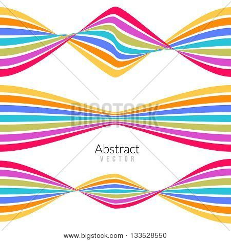 Vector abstract flat multi colored lines background for business.