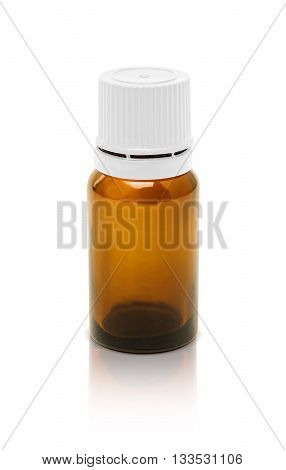 Blank Packaging Cosmetic Serum Bottle Isolated On White Background