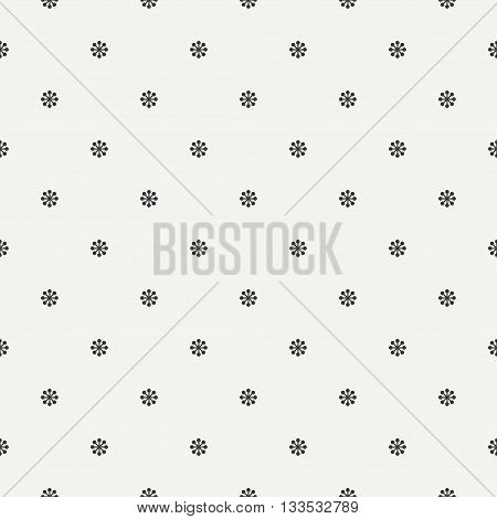 Monochrome seamless floral pattern. Flowers and leaves. Wrapping paper. Scrapbook paper. Tiling. Vector illustration. Spring floral background. Graphic texture. Wallpaper. Floral texture