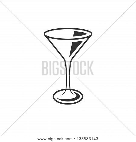 Cocktail glass icon isolated on a white background