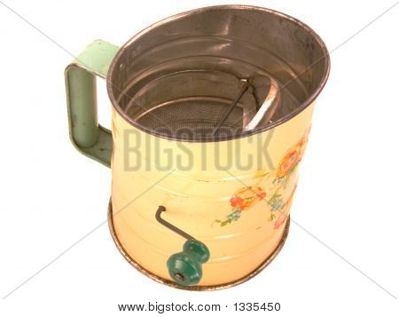 Tinware Flour Sifter