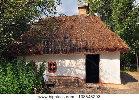 Old Ukrainian House. Old traditional ukrainian rural house