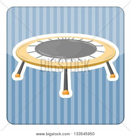 Trampoline icon. Vector illustration in cartoon style