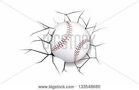 Sport Crack Baseball destruction wall game break
