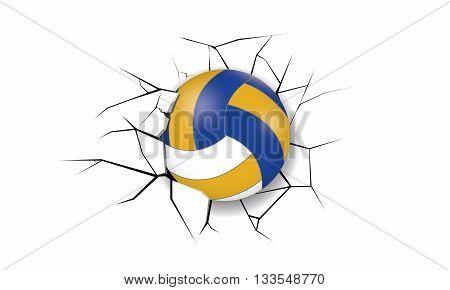 Sport Crack Volleyball destruction wall break game