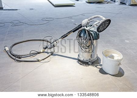 Powerful Industrial vacuum cleaner with a rotary brush head