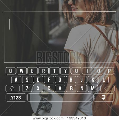 Key Board Message Keypad Technology Concept