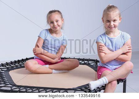 Cheerful Attendants Of Kids Gymnastics Classes