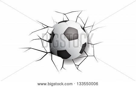 Sport Crack football destruction break wall game