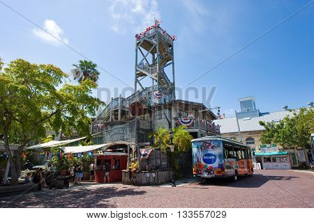 KEY WEST FLORIDA USA - MAY 02 2016: The shipwreck and treasure museum in Key West in Florida