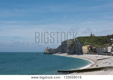 Falaise D'amont Cliff Of Etretat, Normandy, France