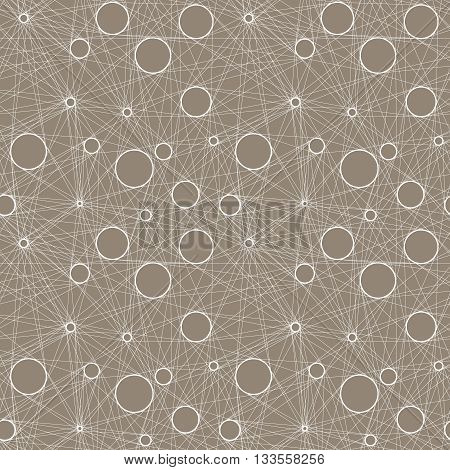 Seamless vector pattern of linear mesh on light beige background