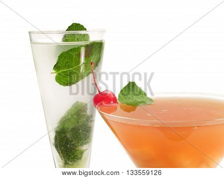 Kremlin Colonel and Zombie cocktails isolated on white background