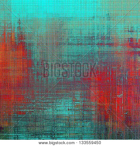 Scratched grunge background or spotted vintage texture. With different color patterns: blue; red (orange); purple (violet); cyan; pink