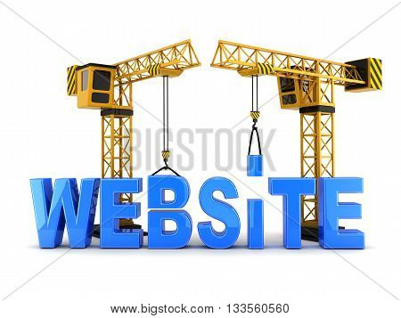 Abstract website and crane (done in 3d rendering)