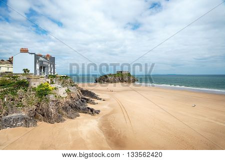 Tenby Seafront In Wales