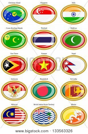 Flags Of The Southern Asia