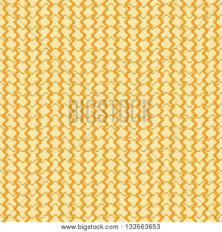 Abstract seamless geometric pattern. Crossing horizontal and vertical wavy lines of different thickness form puzzle shaped elements. Vector illustration for fabric, paper and other
