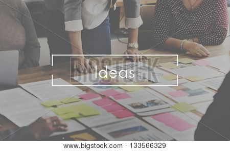 Ideas Thoughts Design Action Plan Concept