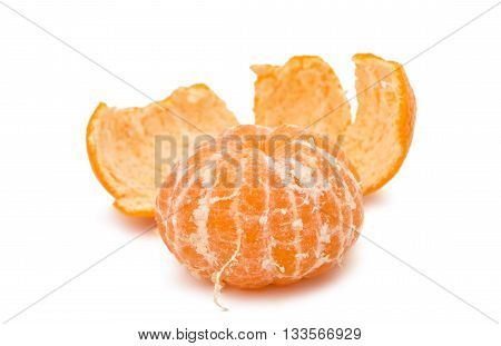 orange mandarine tangerines isolated on white background