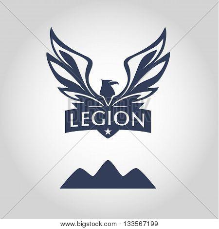 Vector Logo Template. Legion Label. Logo With Eagle. Sport Team