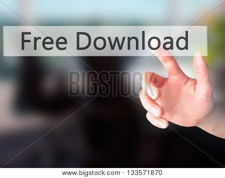 Free Download - Hand Pressing A Button On Blurred Background Concept On Visual Screen.