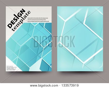 Brochure template. Flyer template.Abstract brochure template. Front cover brochure template. Vector blue brochure template.