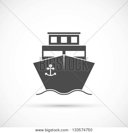 Ship icon isolated. Delivery of cargo ship