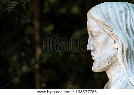 Statue of Jesus Christ in a cemetery