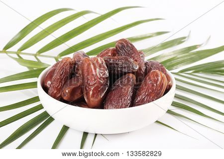 Dates In White Bowl