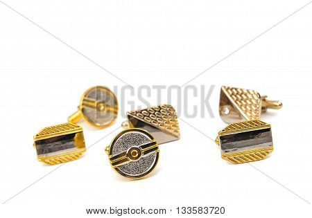 elegant, dinner cufflinks on a white background
